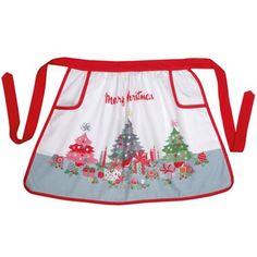 【Cath Kidston】 Christmas Trees Half Apronキャスキッドソン クリスマスツリー ハーフエプロン - イギリス雑貨と紅茶とハーブティーのお店 English Specialities キャスキッドソン クリスマスツリー ハーフエプロン