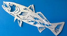 Saltwater trout aluminum gamefish sculpture.. Hand drawn and plasma cut is very life like..www.metalgamefish.com