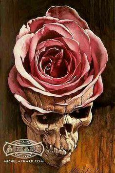 Skull/rose