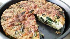 Spinach, egg, mushroom and cheese bake!