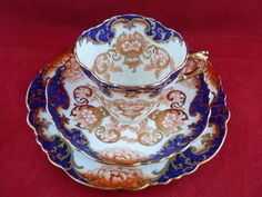Antique Victorian Aynsley Imari Style China Tea Cup Saucer Plate Trio No 291231 | eBay
