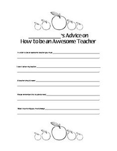 Advice Letters For Teacher  Next YearS Class A Fun End Of Year