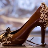Elegant Dark Chocolate Shoe