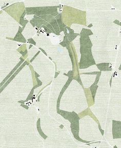 Defining a territory - a strategic site plan cinoh: proposal to reconfigure the Hadspen Estate as a series of woodland clearings Villa Architecture, Architecture Mapping, Architecture Graphics, Architecture Drawings, Architecture Diagrams, Architecture Portfolio, Architecture Site Plan, Unique Architecture, Landscape And Urbanism