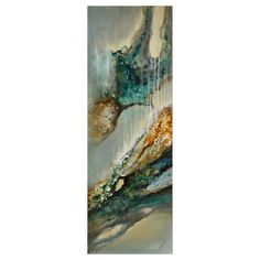 """Cascade Hand-painted on canvas Artist: Patrick St. Germain Dimensions: 20 x 60 x 1.6"""""""