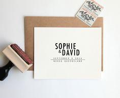 Save the Date Stamp Custom Wedding Rubber by HunterandCoDesigns, $48.00
