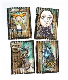 Susanne Rose - Papierkleckse: Mixed Media Artist Trading Cards