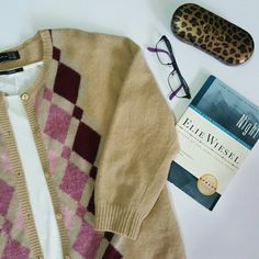 Zara Argyle sweater cardigan Wool blend cardigan. 3/4 length sleeves. Tan/burgundy/pink Size large but fits like a medium. Great condition. Such a cute look with jeans! Zara Sweaters Cardigans