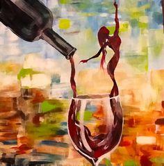 Wine DIY Crafts - - - Wine Photography Studio - Wine Holder Leather - Wine Gifts With Glasses Trompe L Oeil Art, Wine Painting, Woman Wine, Wine Decor, Wine Art, In Vino Veritas, Wine Gifts, Female Art, Glass Art
