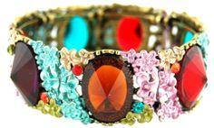 multi coloured stone and enamel bracelet - helene h