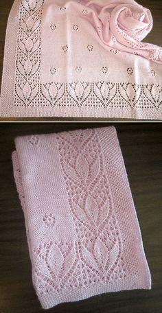 Baby Cardigan Knitting Pattern, Crochet Blanket Patterns, Lace Knitting, Baby Knitting Patterns, Knitting Stitches, Knitting Designs, Knitting Patterns Free, Knitting Projects, Free Pattern