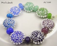 Merlinbeads  Set or bracelet of 7  7 beads by Merlinbeads on Etsy, $85.00