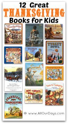 12 Great Thanksgiving Books for Kids @ AllOurDays.com