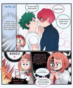 Boku No Academia, Boku No Hero Academia Funny, My Hero Academia Episodes, Buko No Hero Academia, My Hero Academia Memes, My Hero Academia Manga, Gay Comics, Funny Comics, Deku X Todoroki