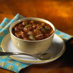 MorningStar Farms Spicy Chili Recipe- meat-free and just 7 ingredients!