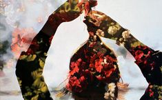 double exposure photos into painting