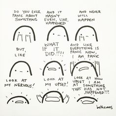 Panic by Beth Evans Funny Relatable Memes, Funny Quotes, Stardust Quotes, Evans Art, Understanding Anxiety, Therapy Tools, Affirmation Quotes, Coping Skills, Sentences