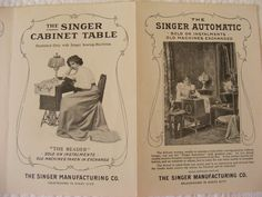 Vintage Antique Singer Sewing Machine by BakerStPaperGoods on Etsy, $12.50