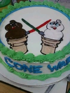 Dairy Queen Cake Cone Wars. One of my designs