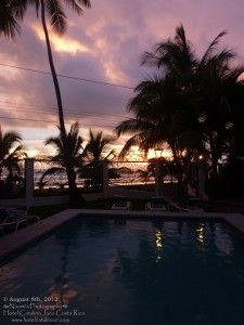 Peace and beauty - view from the pool at sunset - Hotel Catalina Jaco, Costa Rica