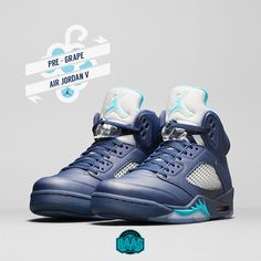 "#jumpman23 #airjordan #jordan #jordan5 #jordan5retro #pregrape #sneakerbaas #baasbovenbaas  Air Jordan 5 Retro ""Pre-Grape"" - Available online in men's and GS sizes!  For more info about your order please send an e-mail to webshop #sneakerbaas.com!"