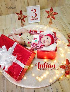 Fotografía infantil navideña