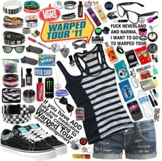 """""""Warped Tour 2011! ^_^"""" by whatisl0ve ❤ liked on Polyvore"""
