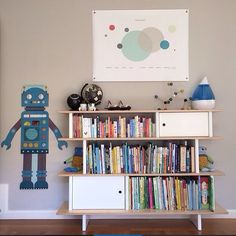 Our Robot Growth Chart looking fantastic in a room by  d.sherwood.designs