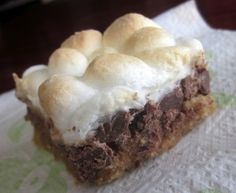 S'more Bars. Easy and Delicious! Made for National Smore's Day.