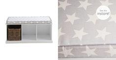 Abbeville Storage Bench Cushion - Grey Star