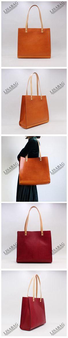 Handmade Original Design Leather Tote Bag Handbag Shoulder Bag Shopper Bag in Brown QX01--LISABAG
