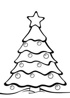 Bilde å fargelegge juletre. Barn lærer om juletre mens de fargelegger | Bilder til bruk i skole og utdanning - bil 28163.