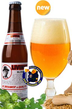 Livinus Blonde 10° Available at http://store.belgianshop.com/special-beers/1585-livinus-blonde-10-13l.html   Cloudy orange color; giant creamy head. Fantastic malty and hoppy aroma full of friutesters. Moderate bitter flavor. Really specey fantastic complex....