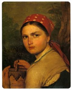 Girl with Burak, 1824  Alexey Venetsianov