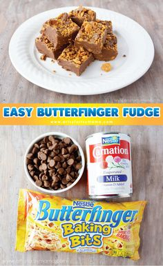 Fudge Recipes Easy Chocolate Butterfinger Fudge with Condensed Milk Recipe! Just 10 minutes and 3 ingredients is all it takes to make this DELICIOUS homemade fudge! It's a holiday must-have and great little gift, too! Go grab the recipe and give it a try! Dessert Simple, Christmas Fudge, Christmas Baking, Christmas Candy, Christmas Crack, Christmas 2015, White Christmas, Christmas Cookies, Xmas