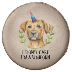 """I'M A UNICORN"" Pit Bull Dog Illustration Chocolate Dipped Oreo - kitchen gifts diy ideas decor special unique individual customized"