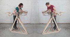 Embrace This Wooden Hugging Machine and It Hugs Right Back