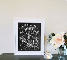 Wedding ceremony sign from lily and Val. #wedding #weddingsign #sign #smh #lifeandstyle