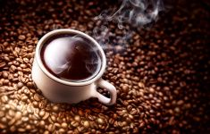 Coffee cup close up. stock photo
