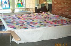 Quilting frames that rolled down from the ceiling. My mamaw spent most of her time quilting.