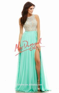 Cassandra Stone by Mac Duggal 40403 Sparkly Chiffon Gown Open Back Prom Dresses, Prom Dresses 2015, Grad Dresses, Dance Dresses, Evening Dresses, Bridesmaid Dresses, Formal Dresses, Prom 2015, Vestidos Color Verde Agua