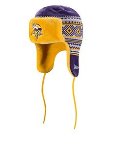 NFL Minnesota Vikings Team Trim Trapper Knit Hat One Size PurpleGold      Continue to the product at the image link. 58fb9bb85