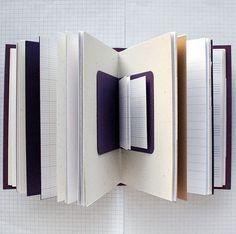 Mini notebook in center