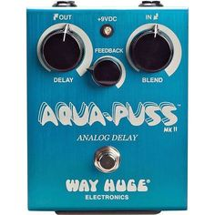 Brand New Dunlop Way Huge WHE701 Aqua-Puss Analog Delay Guitar Effects Pedal