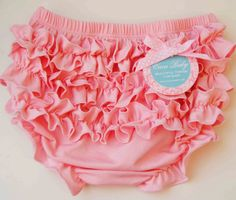 Baby Bloomers Pink Baby  Bloomers With Cute Ruffle by cacababy