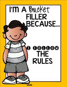 One Fab Teacher: bucket filler poster freebies!! So cute