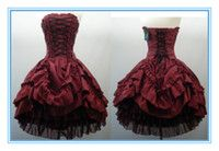 2013 New Arrival Strapless Corset Back Ruched Taffeta Tulle Gothic Wedding Dresses Colored Wedding Gowns Bridal Dresses Corset Prom Dresses Cheap Homecoming Dresses, Prom Party Dresses, Ball Dresses, Cheap Dresses, Bridal Dresses, Ball Gowns, Party Gowns, Graduation Dresses, Sexy Dresses