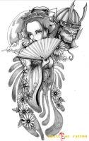 hình xăm geisha 27