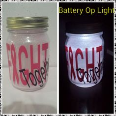 Breast Cancer - Fight Together - Cancer Awareness - Light - Decorative Light - Gift - Encouragement Gift - Cancer Gift - Relay For Life -