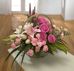 The Undermined Importance of Flowers - Send Flowers Online Basket Flower Arrangements, Beautiful Flower Arrangements, Floral Arrangements, Beautiful Flowers, Church Flowers, Funeral Flowers, Sympathy Flowers, Valentines Flowers, Deco Floral